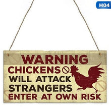 Load image into Gallery viewer, Wooden Hanging Chicken Signs