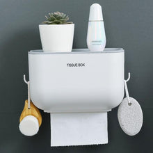 Load image into Gallery viewer, Waterproof Wall Mounted Toilet Paper Holder with Shelf and Storage Box - EL Cheapos Stuff
