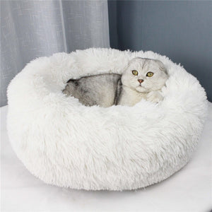 Fluffy Calming Cat Bed Autumn Winter Warm