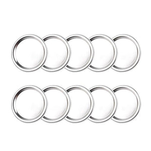 10PCS Wide mouth Mason Canning lids Covers and rings Leak Proof, Sealing Food Keeping it Fresh - EL Cheapos Stuff