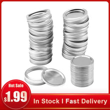 Загрузить изображение в средство просмотра галереи, 10PCS Wide mouth Mason Canning lids Covers and rings Leak Proof, Sealing Food Keeping it Fresh - EL Cheapos Stuff