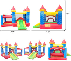 Commercial Or Residential Inflatable Bounce House Jumping Bouncy Castle House with Air Blower for Kids