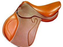 Load image into Gallery viewer, Genuine Leather Horse Riding English Saddle