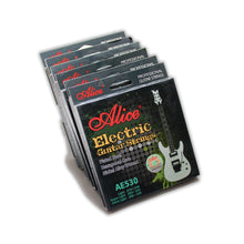 Load image into Gallery viewer, Original ALICE AE530 Electric Guitar Strings 1st-6th Light Super Light Extra Light Nickel Alloy Wound Full Set Hexagonal Core