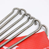 6 Pieces Titanium Alloy Tent Pegs Elbow Heavy Duty