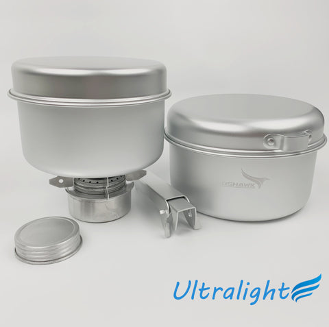 Ultra Light Cook Set UL For Outdoor Camping Backpacking