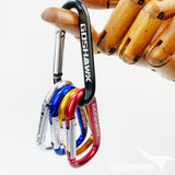 5x D-Ring Clip Key Ring Carabiner Holder Cables