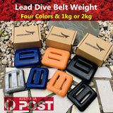 PVC Coated Dive Lead Weights 1Kg 2Kg