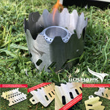 Outdoor Windshield Alcohol Stove Stent