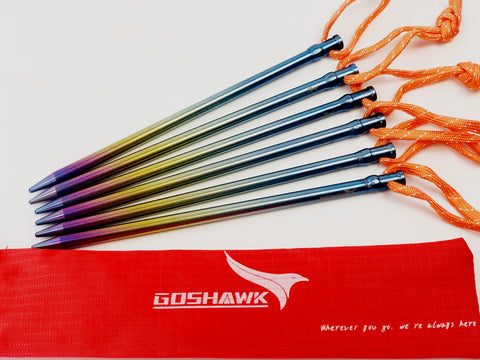 6 Pcs Titanium Tent Peg Hard Ground Stakes