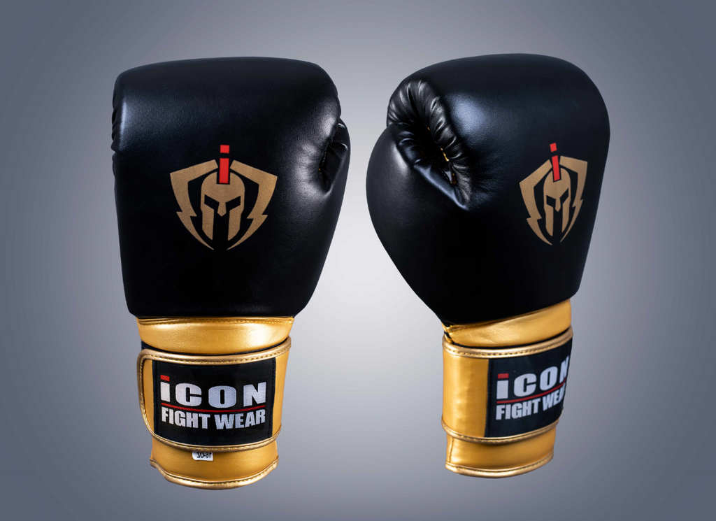 ICON Boxing Gloves Black/Gold