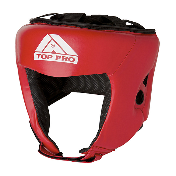 Top Pro Club Boxing Head Gear Red