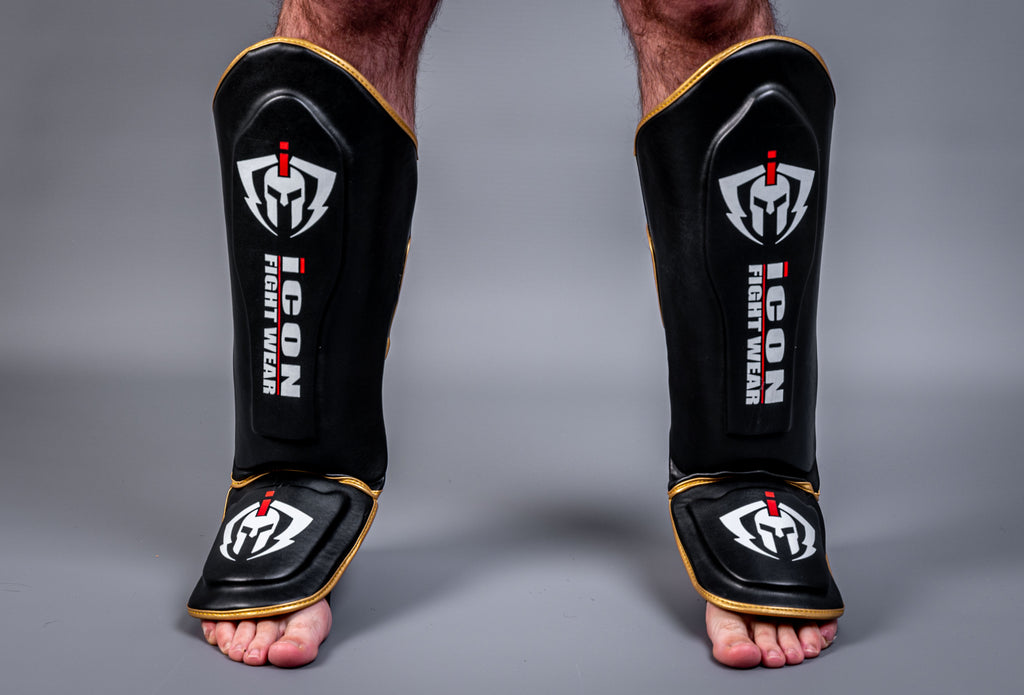 ICON Shin guards Black/Gold