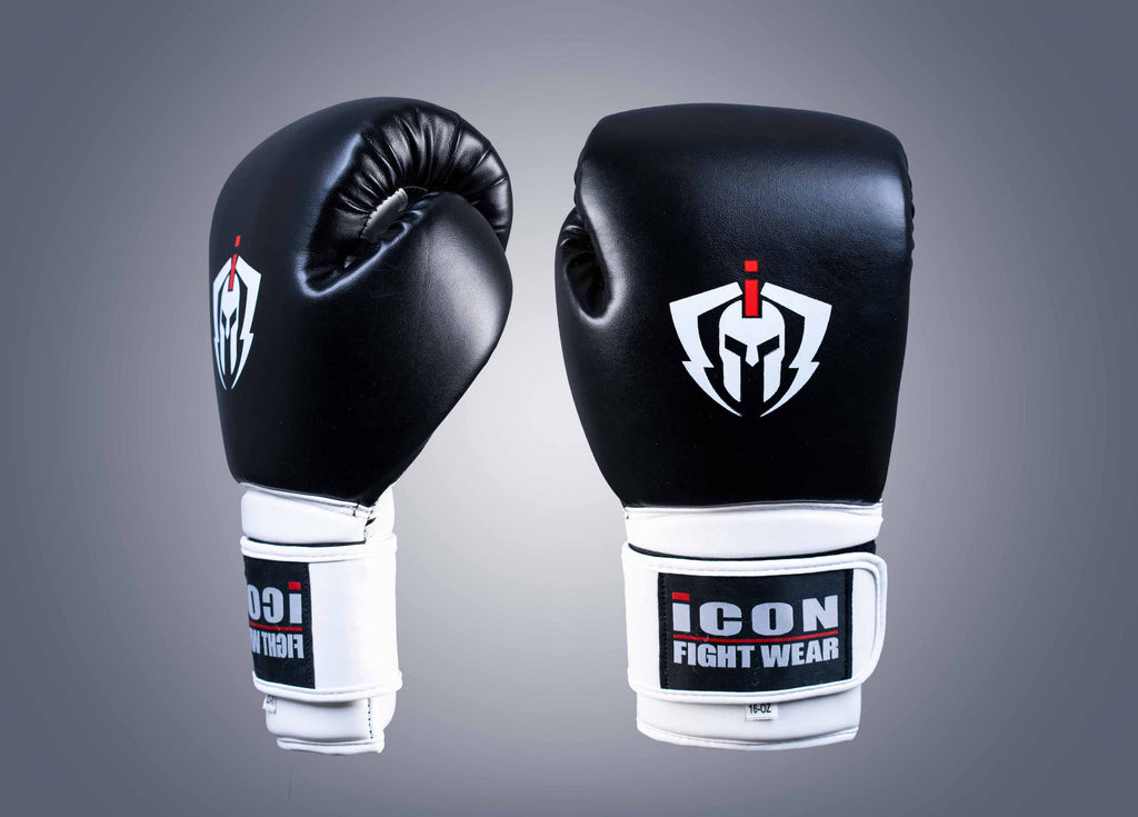ICON Boxing Gloves Black/White