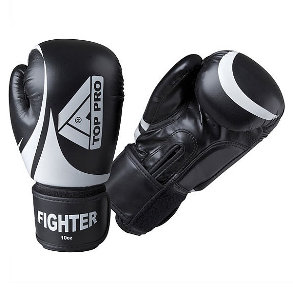 Top Pro Fighter Gloves Black & White