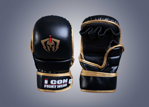 Top Pro Fighter Gloves Black & White 16oz