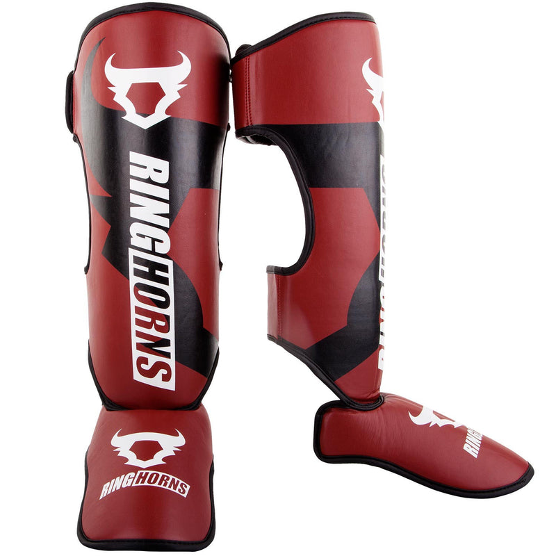 Ring horns Charger Shin Guards Red & Black