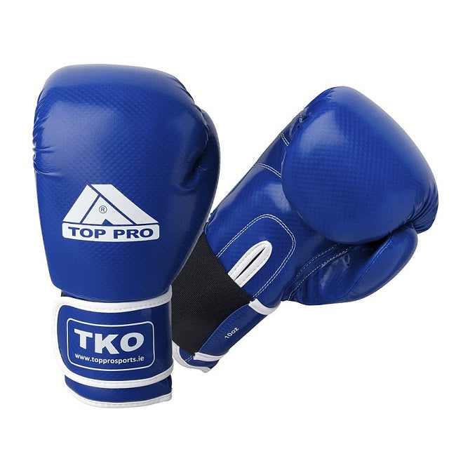 TKO Carbon Youth Boxing Gloves Blue 10oz