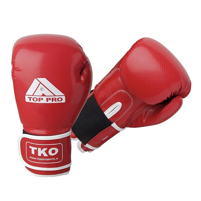TKO Carbon Boxing Gloves Red