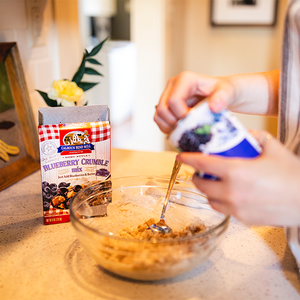 Baking with Calhoun Bend Mill - Blueberry Crumble Mix