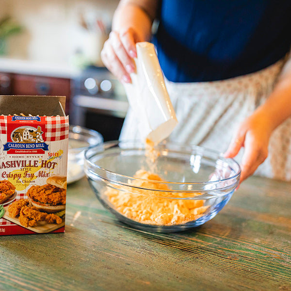 Cooking with Calhoun Bend Mill - Nashville Hot Style Crispy Mix
