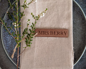 Custom Wood Place Cards for Weddings Rustic