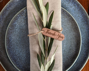 Thanksgiving Wood Place Cards Table Setting