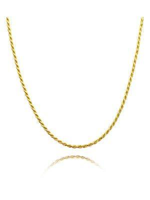 "Herringbone Necklace Choker Rope Chain Necklace Snake Chain Necklace for Women Dainty Gold Choker Necklaces for Women Silver Stainless Steel Necklace 14""-18"" (C: Gold Rope Chain)"