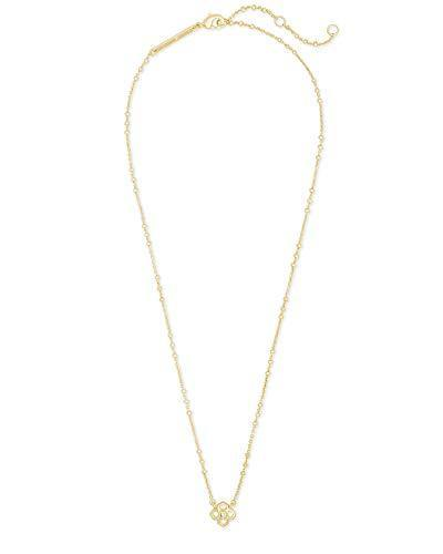 Kendra Scott Rue Adjustable Length Pendant Necklace for Women, Fashion Jewelry, 14k Gold-Plated