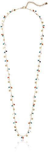 Chaps Women's Gold Multi 36in Shaky Strand Necklace, One Size
