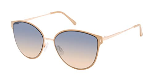 Jessica Simpson J5866 Cat-Eye Sunglasses, Nude & Rose Gold, 57 mm