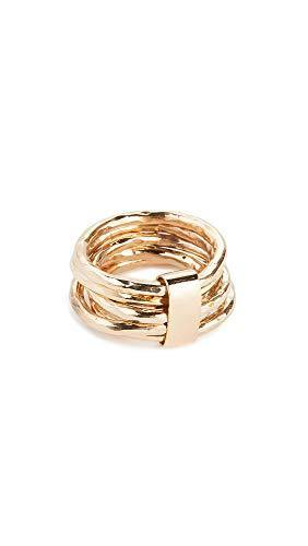 SOKO Women's Nyundo Stacking Rings, Gold, 7