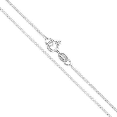 Sterling Silver Box Chain 1mm Genuine Solid 925 Italy Classic New Necklace 16""