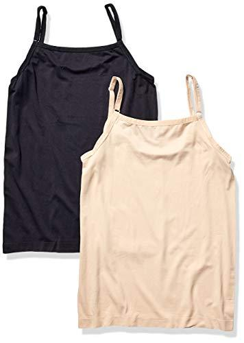 Fruit of the Loom Plus Size Women's 2pk Seamless Cami, 1 Black / 1 Nude, XX-Large