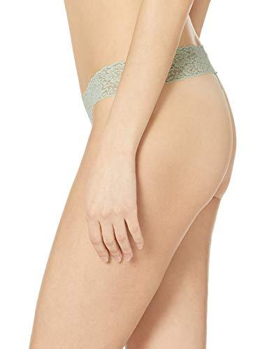 Amazon Essentials Women's 4-Pack Lace Stretch Thong Panty, Cool, L - PRTYA