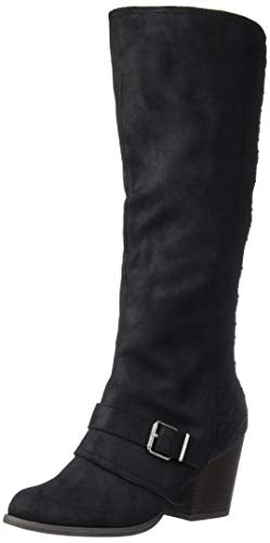 Fergalicious Women's Larissa Knee High Boot, Black, 9.5 M M US
