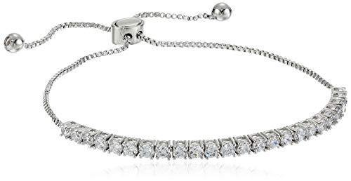 landau Jewelry Deluxe Women's Tennis Bracelet – Quality Metallic Finish and Stones – Ideal Birthday, Christmas, Round CZ 4 Prong