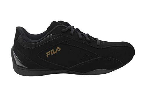 Fila Womens exalade 5 Low Top Lace Up Running Sneaker, Black, Size 10.0