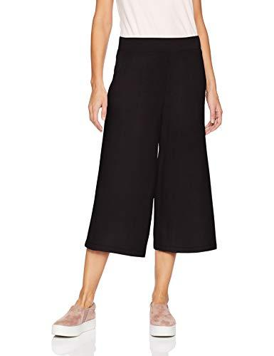 Amazon Brand - Daily Ritual Women's Supersoft Terry Culotte Pant, Black, Large - PRTYA