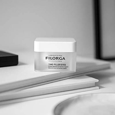 FILORGA TIME-FILLER EYES Absolute Eye Correction Cream for Wrinkles with Hyaluronic Acid, Great for Sagging Eyelids and Lash Volume, 0.5 fl oz