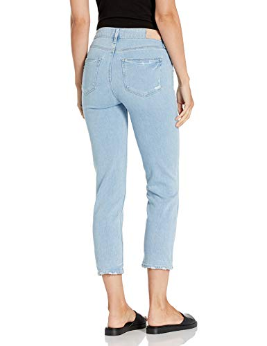 PAIGE Women's Hoxton Crop High Rise Slim Fit Jean, Duet W/Stepped On Hem, 25