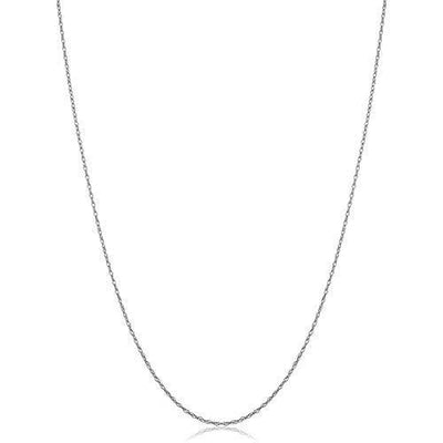 KoolJewelry Solid 14k White Gold THIN Rope Chain Necklace (0.7 mm, 14 inch) - VERY THIN AND LIGHTWEIGHT