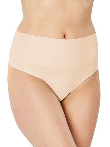 Spanx Women's Everyday Shaping Panties Seamless Thong Soft Nude Thongs SM