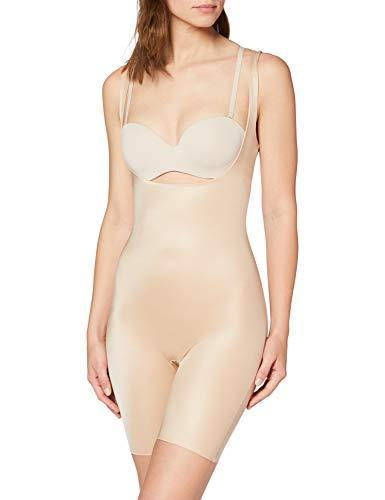 SPANX Power Conceal-Her Open-Bust Mid-Thigh Bodysuit Natural Glam MD