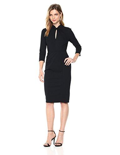 Donna Morgan Women's Knotted Crepe Sheath Dress, Marine Navy, 8 - PRTYA
