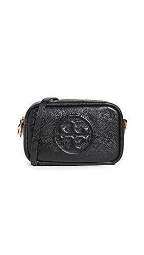 Tory Burch Women's Perry Bombe Mini Bag, Black, One Size