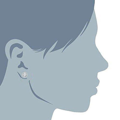 14k White Gold Hammered Finish Ball Stud Earrings, 7mm