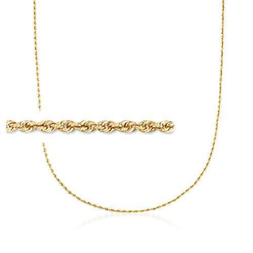 Ross-Simons 2mm 14kt Yellow Gold Rope Chain Necklace