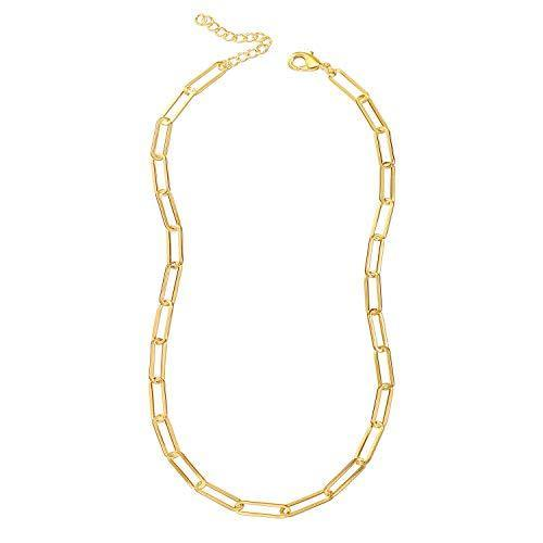 Reoxvo Gold Link Chain Necklace Gold Chain Necklaces for Women