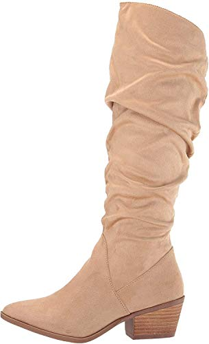 Carlos by Carlos Santana Women's Madelyn Knee High Boot, Sand, 9 M M US